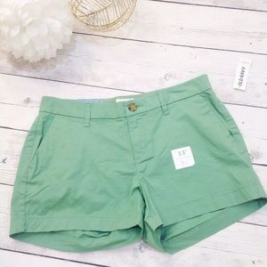Women's Green Casual Shorts - Size 2